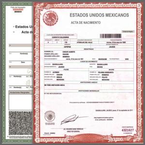 Acta de Nacimiento en Linea Zacatecas